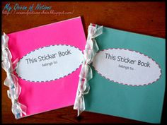 My Ocean of Notions: Homemade Sticker Book and 3 Freebies