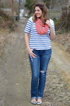 Nautical-Inspired Spring - stripes and polka dots
