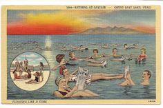 Swimming in the Great Salt Lake Utah
