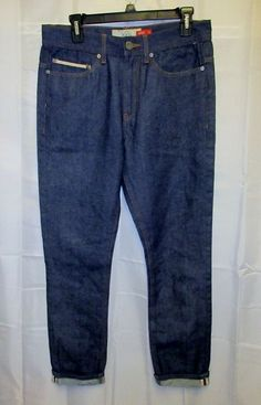 Kayden K Jeans 30x30 Selvedge Rockabilly Roll Up TaperedVTG Raw Denim Red…