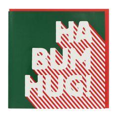 Ha bum hug Christmas card