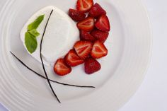 Yoghurt Panna Cotta with Strawberries