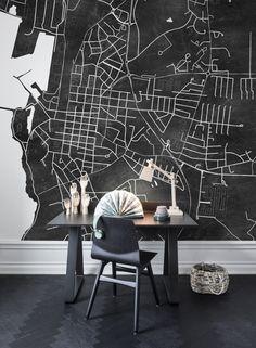 Your Street Blackboard Wallpaper