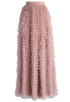 Swan Cloud Maxi Skirt in Rouge Pink - New Arrivals - Retro, Indie and Unique Fashion