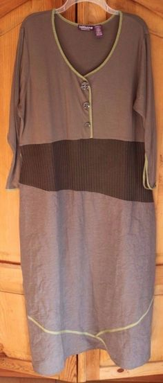 19.79$  Watch here - http://viesw.justgood.pw/vig/item.php?t=m878kn849632 - Taillissime Dress Plus size 1X La Redoute Creation 44-0853-0 ribbed waist Maxi