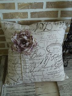 pillow by French Market Pillows at Etsy -- lots of pretty pillows ~~~
