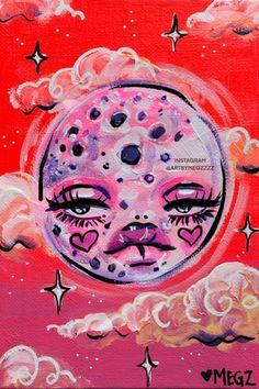 Indie Drawings, Psychedelic Drawings, Art Drawings Sketches, Arte Indie, Indie Art, Small Canvas Art, Mini Canvas Art, Hippie Painting, Arte Sketchbook
