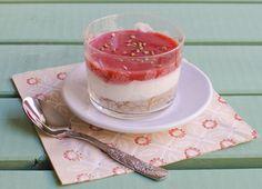 Crema de queso con lima y fresas | Recetas Mycook