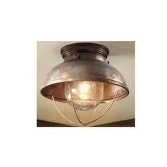 Fisherman Ceiling Light Copper Rustic Vintage Antique Style Lodge Cabin Lamp NEW #Lodge