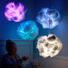 Rainbow Cloud Lamps All hail the Glow Cloud. Rainbow Cloud Lamps All hail the Glow Cloud. Cute Crafts, Diy And Crafts, Crafts For Kids, Kids Diy, Glow Crafts, Budget Crafts, Upcycled Crafts, Baby Crafts, Glow Cloud