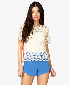 Open-Knit Crocheted Top | FOREVER21 - 2021839309