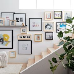 Amazing Picture Wall Design Ideas for Living Room - Live Enhanced A Frame Cabin, A Frame House, Gallery Wall Frames, Frames On Wall, Picture Wall, Picture Frames, Hallway Pictures, Wall Pictures, Narrow Hallway Decorating