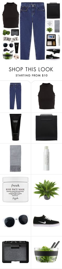 """""""Why should I trust you?"""" by sarahkatewest ❤ liked on Polyvore featuring Bardot, Witchery, Topshop, Fresh, Nearly Natural, NIKE, NARS Cosmetics and Bodum"""