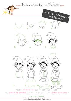 1000 images about dessiner pas pas on pinterest - Comment dessiner un lutin ...