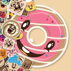 Candy Print  by Kern Saunders, via Behance