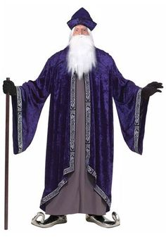 This plus size royal wizard costume makes a great Merlin costume. Become a powerful sorcerer with this wizard costume for men. Baby Costumes, Adult Costumes, Halloween Costumes, Halloween Fun, Dumbledore Costume, Grand Wizard, Wizard Costume, Plus Size Costume, Plus Size Halloween
