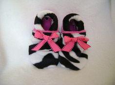 #baby girl shoes   #Zebra hot pink