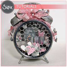 Sizzix Tutorial | Altered Clock by Jan Hobbins