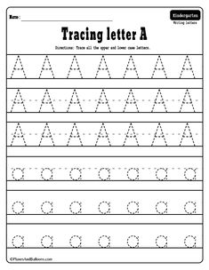 Alphabet tracing worksheets – perfect alphabet activities for learning letters and writing at the same time, FREE printable! - Kids education and learning acts Free Printable Alphabet Worksheets, Letter Worksheets For Preschool, Writing Practice Worksheets, Preschool Writing, Alphabet Activities, Abc Worksheets, Free Alphabet Tracing Printables, Preschool Worksheets Alphabet, Math Worksheets For Kindergarten