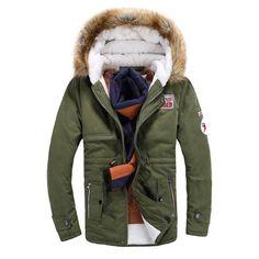 Mens Trendy Fur Lined Hooded Jacket Mens Winter Coat, Winter Jackets, Hooded  Parka, 521eae51da