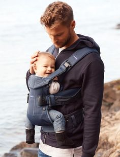 Buy BabyBjörn One Air Baby Carrier Navy Blue from our Baby Carriers range at John Lewis & Partners. Ergonomic Baby Carrier, Best Baby Carrier, 3d Mesh, Baby Bjorn, Young Baby, Suits You, Baby Bibs, Baby Wearing, How To Fall Asleep