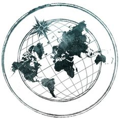 World map globe sketch vector sketch lean pinterest map globe and then maybe a faded compass going threw it ms gumiabroncs Images