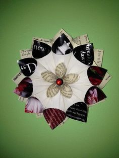 Twilight Wall Flower with cover page and unique by BookBlossoms