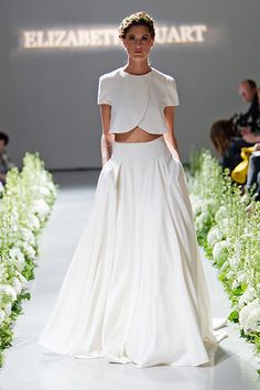 Gown by Elizabeth Stuart #weddingdresses #croptop