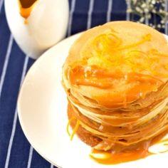 caramel budino with salted caramel sauce caramel salted caramel crepes ...