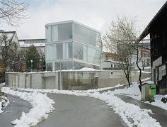 House with One Wall by Christian Kerez - Witikon, Zurich, Switzerland