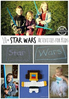 10 {Fun} Star Wars Activities For Kids // 10 actividades para niños sobre Star Wars Star Wars Party, Star Wars Birthday, Craft Activities For Kids, Crafts For Kids, Learning Activities, Nanny Activities, Craft Ideas, Star Wars Crafts, Star Wars Kids