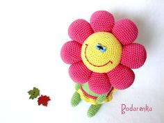 Crochet Toy Doll Flower