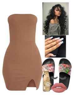 """""""Living single🔓"""" by glittersquirts on Polyvore featuring Gucci, Lime Crime, Violet Voss and Rolex"""
