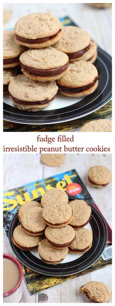 Fudge filled peanut butter cookies
