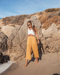 "2,190 Likes, 27 Comments - R O W I E (@rowiethelabel) on Instagram: ""Bring back the sunshine ☀️ Carlo Pants in Sunflower restocked!! xx"""