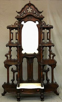 Rosewood Grained Walnut Victorian Etagere Mitchell and Rammelsburg c. 1860-1870