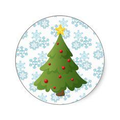 Oh Christmas tree Round Stickers