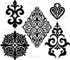 Find decorative lines symmetrical stock images in HD and millions of other royalty-free stock photos, illustrations and vectors in the Shutterstock collection. Stencil Patterns, Stencil Designs, Pattern Art, Embroidery Patterns, Pattern Design, Stencil Printing, Stencil Art, Stenciling, Mandala Painting