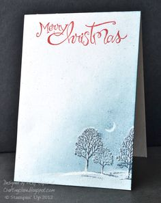 Stampin' Up ideas and supplies from Vicky at Crafting Clare's Paper Moments: Magical Christmas night