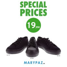 La moda más #sporty en código #totalblack   ►► AHORA con nuestros SPECIAL PRICES !!!  Descubre nuestros PRECIOS ESPECIALES en PRODUCTOS SELECCIONADOS   No esperes más y visita tu tienda MARYPAZ más cercana o entra ya en nuestra Online Store y disfruta del calzado más cool al mejor precio :)  #specialprices #shoesandthecity    Todos los SPECIAL PRICES aquí ► http://www.marypaz.com/tienda-online/special-price.html