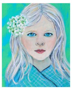 Original 8 x 10 Child Angel Fine Art Angel by theartwithaheart