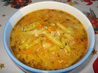 Süssünk, főzzünk valamit!: Zöldbableves tárkonyosan Thai Red Curry, Recipies, Ethnic Recipes, Food, Recipes, Essen, Meals, Yemek, Eten