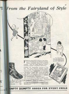 #childrensshoes #oldad #oldads #illustration #cute #kids #stl #stlouis #1920s #oldads #history