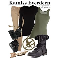 """Katniss Everdeen - The Hunger Games"" by chelsealauren10 on Polyvore"