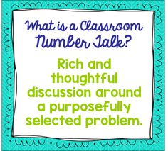 Number Talks Book Study - Chapters 1 & 2