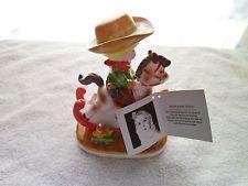 "Vintage 1983  Joan Walsh Anglund ""My Rocking Horse"" Ceramic Figurine"