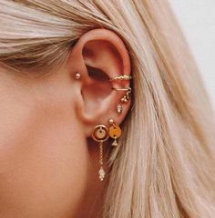 Are Your Trendy Ear Piercings Helping You On A Wellness Level? Are Your Trendy Ear Piercings Helping You On A Wellness Level? Ear Jewelry, Cute Jewelry, Body Jewelry, Jewelery, Jewelry Accessories, Jewellery Earrings, Trendy Jewelry, Feather Earrings, Silver Jewellery