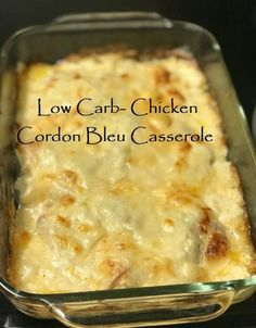 Low Carb Chicken Cordon Bleu Casserole - Delicious Healthy, Bleu Carb Casserole H .Low Carb Chicken Cordon Bleu Casserole - Delicious Healthy, Bleu Carb Casserole Chicken Cordon Cheesy Cauliflower Rice with Broccoli and ChickenOne Comida India, Chicken Cordon Bleu Casserole, Chicken Cordon Blue Sauce, Easy Chicken Cordon Bleu, Keto Casserole, Casserole Recipes, Low Carb Chicken Casserole, Casserole Ideas, Low Carb Recipes