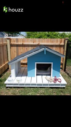 As the Weber family said, their dog Charles in is charge in this house! So we built Charles an outdoor space fit for a canine king, complete with a dog house, dog deck, and a spacious dog run. Custom Dog Houses, Cool Dog Houses, Canis, Dog House Plans, House Dog, Wooden Dog House, Dog Yard, Diy Dog Bed, Pet Dogs