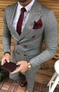 Wedding Suits Men Grey Shirts 40 Super Ideas in 2020 Mens Tweed Suit, Tweed Suits, Plaid Suit, Wool Suit, Prom Suits For Men, Mens Suits, Wedding Men, Wedding Suits, Wedding Tuxedos